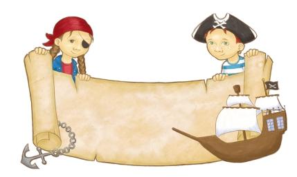 Namensschild Piraten